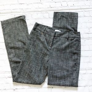 New York & Company Grey & White Straight Leg Pants